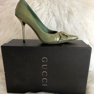 Authentic Gucci Snake Skin Pumps